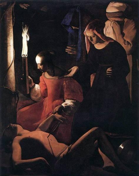 St Sebastien Attended by St Irene WGA